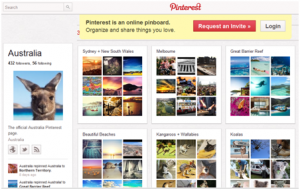 Tourism Australia in Pinterest