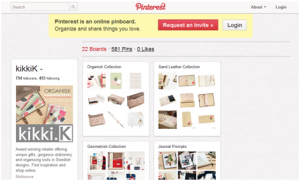 Kikki K Pinterest Marketing